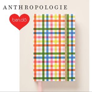 Anthropologie Ban.do Block Party Gingham Planner
